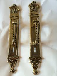 details about pair vintage reclaimed heavy brass door handle key hole and knock by ph ters
