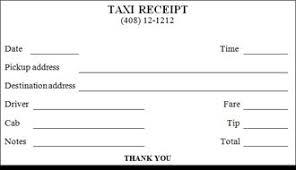 Taxi Receipt Template Malaysia Printable Taxi Receipt