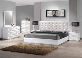 white and grey bedroom furniture. Amazon.com: J\u0026M Furniture Verona Modern White Lacquer \u0026 Leather Bedroom Set -King Size: Kitchen Dining And Grey H