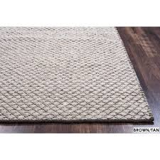 cool accent rug rizzy home twist 100 percent wool hand woven 8 x