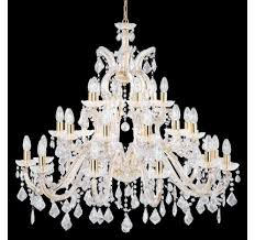 searchlight 1214 30 marie therese 30 light traditional crystal chandelier polished brass