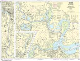 James River Depth Chart Noaa Nautical Chart 12252 James River Jordan Point To Richmond