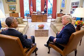 desk in oval office. Former President Barack Obama And Donald Trump Sit In The Oval Office With Resolute Desk S