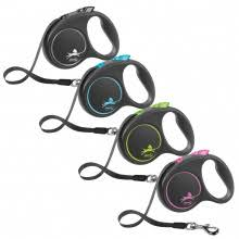 TRIXIE <b>flexi BLACK DESIGN</b> Retractable Tape Leash for Dogs