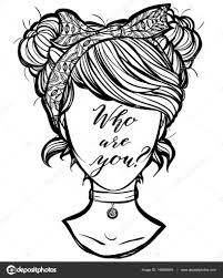 безликие изображение девушка ретро векторное изображение