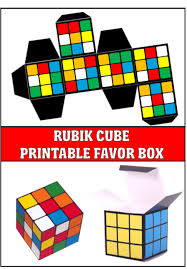 this rubik s cube favor box is a great addition to any 80 s party decor simply open file is adobe reader print then fold along the lines and glue the