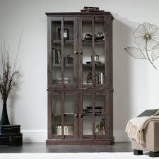 Glass Door Cabinet New Grange Tall Display Cabinet 419065 Sauder