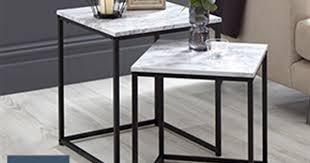 loft range marble nest of tables at