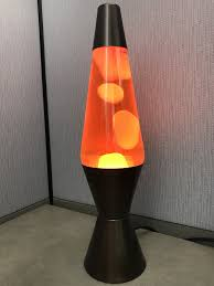 14 Classic Lava Lamp With Bronze Base Yellow Wax Orange Liquid
