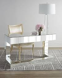 mirrored office furniture. reginaandrew design quinlan silver mirrored writing desk office furniture d