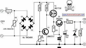 transformerless 5 volt power supply circuit diagram current transformer circuit diagram at Transformer Circuit Diagram