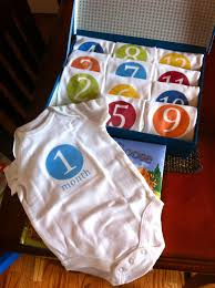 awesome baby shower gift idea a onesie for every month to take a picture