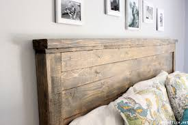 amazing headboard diy wood idea bedroom wooden rustic for bed twin reclaimed pallet easy with light