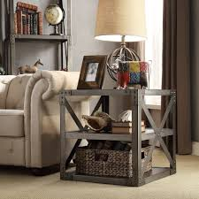 INSPIRE Q Sedgwick Vintage Industrial Modern Bracket Metal End Table -  Overstock