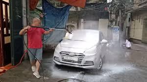 Máy rửa xe lead (Panda) 3 Kw tự ngắt phun bọt đã mắt - YouTube