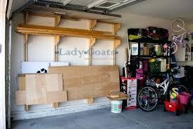 2 wall mounted lumber rack diy garage storage hanging shelves plans genius and organization project ideas