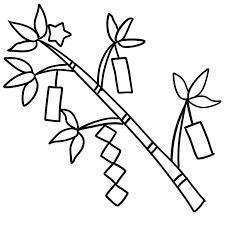 七夕の笹飾りのボールペンイラストのかわいい書き方願い事が書ける短冊