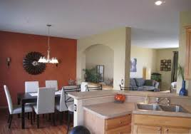living room kitchen colors accent wall