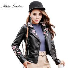 faux leather jacket women