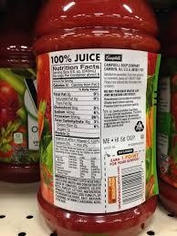 v8 vegetable juice nutritional information image 2018