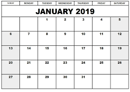 Calendar Template Online Printable Calendar January 2019 Printable Calendar