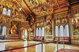 interior of the neuschwanstein castle in bavarian alps germany photo by