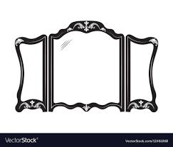 Mirror frame vector Template Craft Vintage Mirror Frame Vector Image Vectorstock Vintage Mirror Frame Royalty Free Vector Image