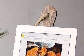 Kitchen Tablet Holder Kitchen Ipad Tablet Rustic Wood Recipe Holder Woodwaves