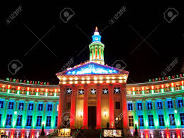 Downtown Denver Lights Downtown Denver At Christmas Denvers City And County Building
