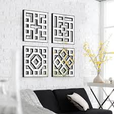 morden wall mirror square mirror mirrored wall decor fretwork mirror wall art d f x perfect mirrored wall decor