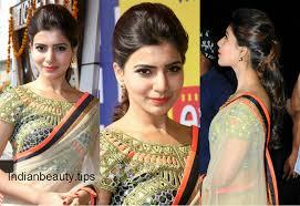 samantha ruth prabhu hairstyles in sarees