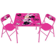 Camping Folding Table And Chairs Set Disney Minnie Mouse First Fashionista Kids Activity Table Set With