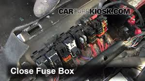 blown fuse check 1995 1999 oldsmobile aurora 1997 oldsmobile 6 replace cover secure the cover and test component