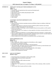 Callback Representative Resume Phone Representative Resume Samples Velvet Jobs 1