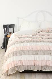 bedding set grey and light pink bedding waterfall ruffle duvet cover amazing grey and light