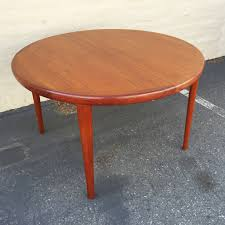 teak dining table round
