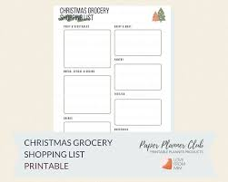 How To Make A Grocery List Printable Christmas Grocery Shopping List