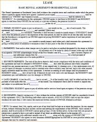 Printable Standard Commercial Lease Agreement Reiwa Form Sample ...