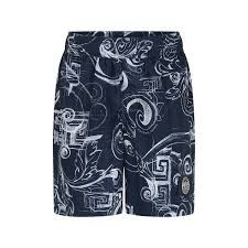 Versace Swim Shorts Size Chart Young Versace Boys Navy Baroque Print Swim Shorts Young