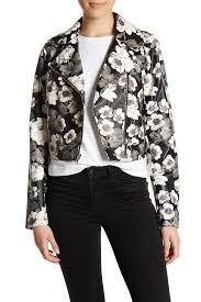 image of sam edelman faux leather fl front zip moto jacket
