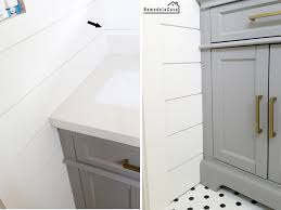 how to fill gap between bathroom