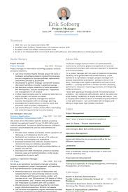 Gallery Of Project Manager Resume Template