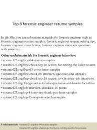 Forensic Mechanical Engineer Sample Resume Forensic Mechanical Engineer Sample Resume 24 244 Nardellidesign 9