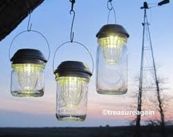 multi color outdoor solar jar design. Wide Mason Jar Solar Lids Garden Lanterns 4X Brighter Hanging Lights Outdoor Multi Color Design