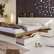 Modern bedroom furniture with storage Two Tone Elena Drawers Bravo Furniture Elena Bedroom Beds With Storage Bedroom Furniture