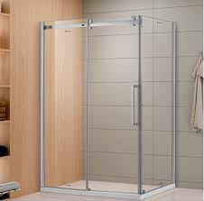 china sally 8mm frameless sliding glass shower door with fixed side panel and twin big roller wheels enclosure china shower enclosure shower door