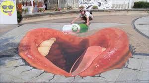 3d Chalk Art Street Painting Youtube