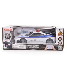 Remote Control Police Car With Working Lights And Siren Wonder Play 1 20 Rc Police Car Remote Control Police Car Rc