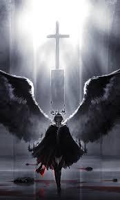 wings, demon angel, artwork, fantasy ...