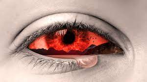 Crying Red eye illustration HD ...